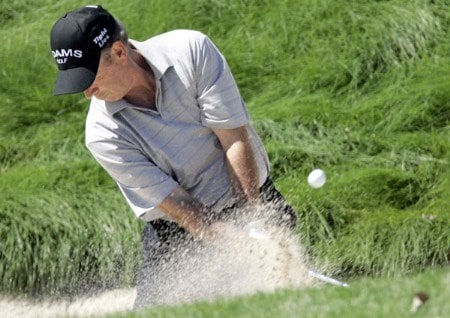 Larry Nelson in action during the second round of the 2005 3M Championship at the TPC of the Twin Cities in Blaine, Minnesota on August 6, 2005.Photo by Gregory Shamus/WireImage.com