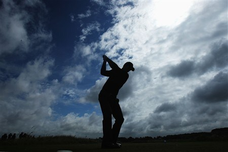 SOUTHPORT, UNITED KINGDOM - JULY 16:  Ross Fisher of England tees off on the 17th hole during the third practice round of the 137th Open Championship on July 16, 2008 at Royal Birkdale Golf Club, Southport, England.  (Photo by Stuart Franklin/Getty Images)