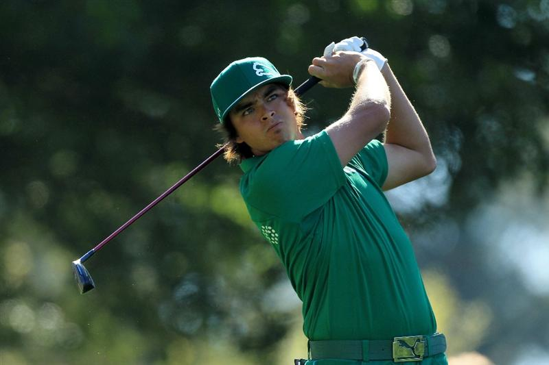 AUGUSTA, GA - APRIL 07:  Rickie Fowler watches his tee shot on the fourth tee during the first round of the 2011 Masters Tournament at Augusta National Golf Club on April 7, 2011 in Augusta, Georgia.  (Photo by David Cannon/Getty Images)
