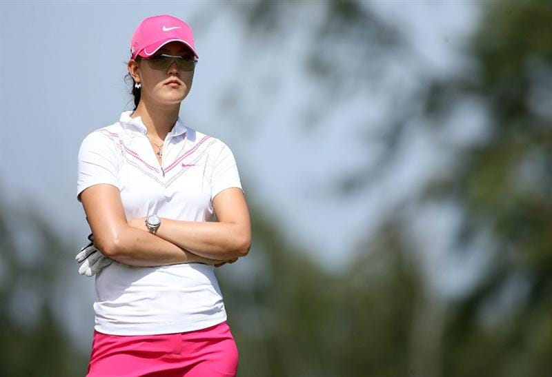 KAHUKU, HI - FEBRUARY 14:  Michelle Wie is pictured on the 3rd hole during the final round of the SBS Open on February 14, 2009 at the Turtle Bay Resort in Kahuku, Hawaii.  (Photo by Andy Lyons/Getty Images)