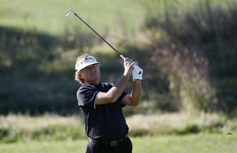 POTOMAC, MD - OCTOBER 08:  Tommy Armour III hits his second shot on the first fairway during the second round of the Constellation Energy Senior Players Championship held at TPC Potomac at Avenel Farm on October 8, 2010 in Potomac, Maryland.  (Photo by Michael Cohen/Getty Images)