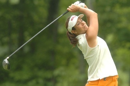Laura Diaz in action during the second round of the LPGA's Wendy's Championship For Children at Tartan Fields Golf Club in Dublin, Ohio August 26, 2005.Photo by Steve Grayson/WireImage.com