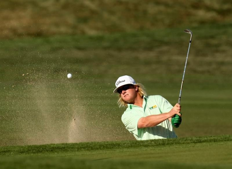 SCOTTSDALE, AZ - FEBRUARY 1: Charley Hoffman hits out of a bunker on the 15th hole during the final round of the FBR Open on February 1, 2009 at TPC Scottsdale in Scottsdale, Arizona.  (Photo by Stephen Dunn/Getty Images)