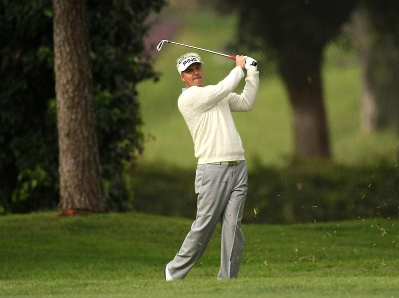 PACIFIC PALISADES, CA - FEBRUARY 21:  Daniel Chopra of Sweden hits his second shot on the 11th hole during the third round of the Northern Trust Open on February 21, 2009 at Riviera Country Club in Pacific Palisades, California.  (Photo by Stephen Dunn/Getty Images)