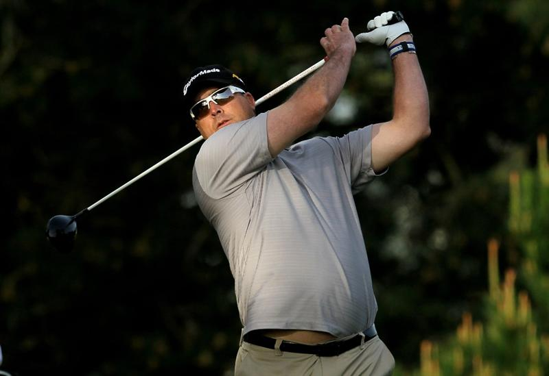 PEBBLE BEACH, CA - FEBRUARY 11: Chris Couch hits his tee shot on the second hole during the first round of the AT&T Pebble Beach National Pro-Am at Pebble Beach Golf Links on February 11, 2010 in Pebble Beach, California.  (Photo by Stephen Dunn/Getty Images)