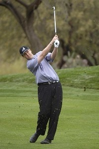 J.J. Henry in action during the final round of the FBR Open at the TPC Players Course on Sunday, February 5, 2006 in Scottsdale, Arizona.Photo by Marc Feldman/WireImage.com