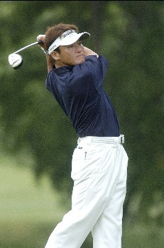 Shigeki Maruyama tees off the 7th hole during the first round of The Byron Nelson Championship on Thurday May 12, 2005 at the Cottonwood Vally Course, Los Colinas, TexasPhoto by Marc Feldman/WireImage.com