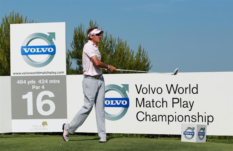 CASARES, SPAIN - MAY 22:  Ian Poulter of England in action during the final of the Volvo World Match Play Championship at Finca Cortesin on May 22, 2011 in Casares, Spain.  (Photo by Andrew Redington/Getty Images)