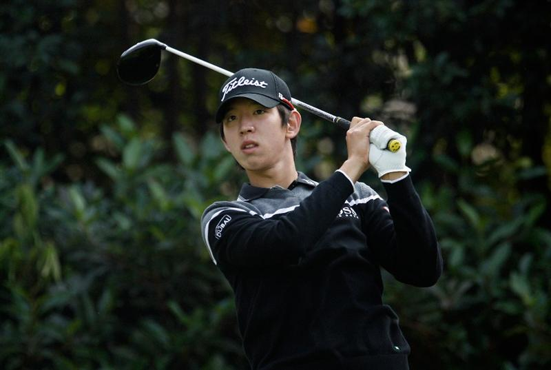 SHANGHAI, CHINA - NOVEMBER 05:  Seung-yul Noh of South Korea watches his tee shot on the fifth hole during the second round of the HSBC Champions at the Sheshan Golf Club on November 5, 2010 in Shanghai, China.  (Photo by Scott Halleran/Getty Images)
