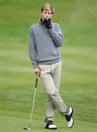 GLENEAGLES, SCOTLAND - SEPTEMBER 28:  Thomas Detry of the European team looks on during the second day of play at the Junior Ryder Cup at Gleneagles on September 28 2010 near Muirton, Scotland. (Photo by Ian MacNicol/Getty Images)