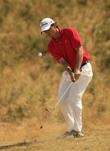 Carlos Rodiles during practice prior to the 135th British Open Championship at Royal Liverpool Golf Club in Hoylake, Great Britain on July 19, 2006.Photo by Pete Fontaine/WireImage.com