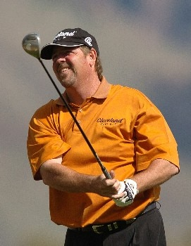 Steve Lowery in action during the second round of the PGA's Tour 2005 Chrysler Classic of Tucson at the Omni Tucson National Golf Resort & Spa February 25, 2005 in Tuscon, Arizona.