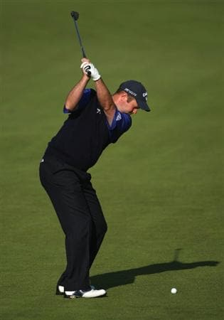 LUSS, SCOTLAND - JULY 09:  Alastair Forsyth of Scotland hits his third shot on the 10th hole during the First Round of The Barclays Scottish Open at Loch Lomond Golf Club on July 09, 2009 in Luss, Scotland.  (Photo by Andrew Redington/Getty Images)
