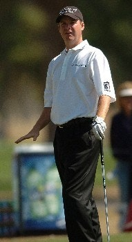 Joe Ogilvie in action during the third round of the PGA's Tour 2005 Chrysler Classic of Tucson at the Omni Tucson National Golf Resort & Spa February 26, 2005 in Tuscon, Arizona.