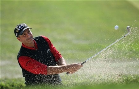 SAN DIEGO - JUNE 16:  Rocco Mediate hits from a bunker on the second hole during the playoff round of the 108th U.S. Open at the Torrey Pines Golf Course (South Course) on June 16, 2008 in San Diego, California.  (Photo by Ross Kinnaird/Getty Images)