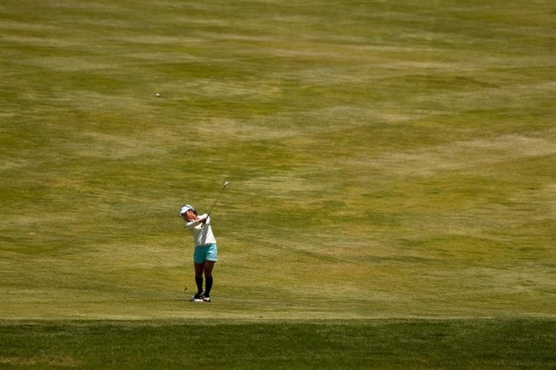 MORELIA, MEXICO - APRIL 29: Ai Miyazato of Japan plays an approach shot during the first round of the Tres Marias Championship at the Tres Marias Country Club on April 29, 2010 in Morelia, Mexico. (Photo by Darren Carroll/Getty Images)