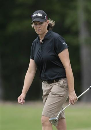 MOBILE, AL - MAY 15:  Wendy Ward walks around the third green during third round play in the Bell Micro LPGA Classic at the Magnolia Grove Golf Course on May 15, 2010 in Mobile, Alabama.  (Photo by Dave Martin/Getty Images)
