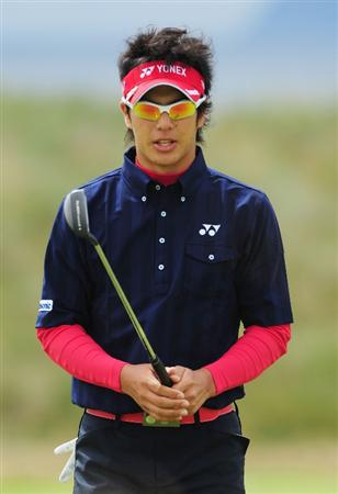 TURNBERRY, SCOTLAND - JULY 17:  Ryo Ishikawa of Japan reacts to a putt during round two of the 138th Open Championship on the Ailsa Course, Turnberry Golf Club on July 17, 2009 in Turnberry, Scotland.  (Photo by Stuart Franklin/Getty Images)