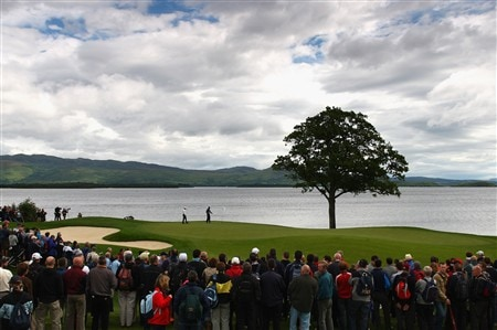 LUSS, UNITED KINGDOM - JULY 12:  Phil Mickelson of USA walks across the 6th green during the Third Round of The Barclays Scottish Open at Loch Lomond Golf Club on July 12, 2008 in Luss, Scotland.  (Photo by Richard Heathcote/Getty Images)