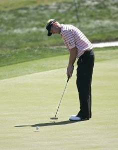 Vaughn Taylor putting during the final round of THE PLAYERS Championship held at the TPC Stadium Course in Ponte Vedra Beach, Florida on March 26, 2006.Photo by Chris Condon/PGA TOUR/WireImage.com