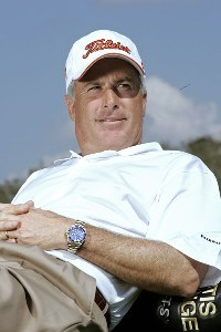 Curtis Strange poses for a portrait prior to the the first round of the ACE Group Classic held at the TwinEagles GC in Naples, Florida on February 17, 2006.Photo by Sam Greenwood/WireImage.com