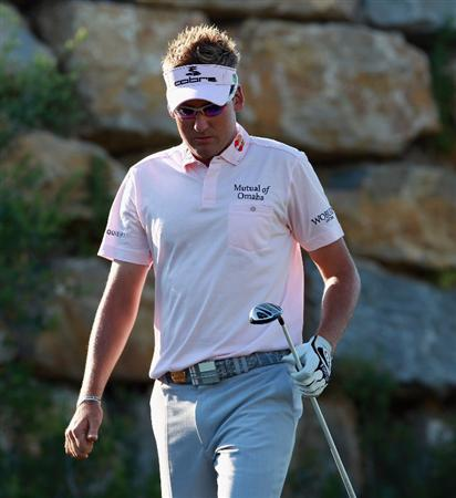 CASARES, SPAIN - MAY 22:  Ian Poulter of England on the second hole during the semi final of the Volvo World Match Play Championship at Finca Cortesin on May 22, 2011 in Casares, Spain.  (Photo by Andrew Redington/Getty Images)