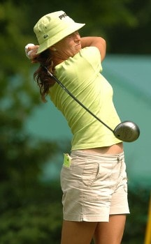 Patricia Meunier-Lebouc in action during the third round of the 2005 Wendy's Championship for Children at the Tartan Fields Golf Club in Dublin, Ohio on Saturday August 27, 2005.Photo by Steve Grayson/WireImage.com