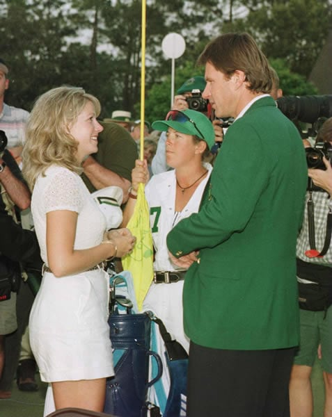 Nick Faldo and Brenna Cepelak