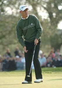 Nathan Green reacts to a missed putt on the 16th green  during the final round of the PGA TOUR's 2006 Buick Invitational at Torrey Pines South in La Jolla, California January 29, 2006.Photo by Steve Grayson/WireImage.com