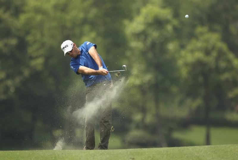 CHENGDU, CHINA - APRIL 24:  Gregory Havret of France in action during day four of the Volvo China Open at Luxehills Country Club on April 24, 2011 in Chengdu, China.  (Photo by Ian Walton/Getty Images)