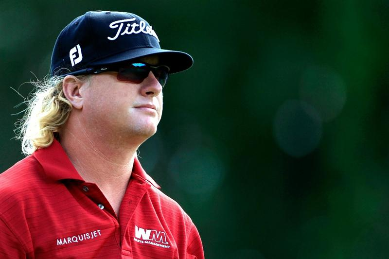 NORTON, MA - SEPTEMBER 05:  Charley Hoffman looks on from the seventh tee during the third round of the Deutsche Bank Championship at TPC Boston on September 5, 2010 in Norton, Massachusetts.  (Photo by Michael Cohen/Getty Images)