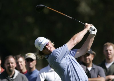 Charley Hoffman in action during the second round of the PGA TOUR's 2007 Nissan Open at Rivera Country Club in Pacific Palisades, California on February 16, 2007. PGA TOUR - 2007 Nissan Open - Second RoundPhoto by Steve Grayson/WireImage.com