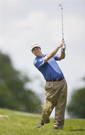 GRAND BLANC, MI - AUGUST 02:  Charles Warren watches his second shot on the first hole during the final round of the Buick Open at Warwick Hills Golf and Country Club on August 2, 2009 in Grand Blanc, Michigan.  (Photo by Gregory Shamus/Getty Images)