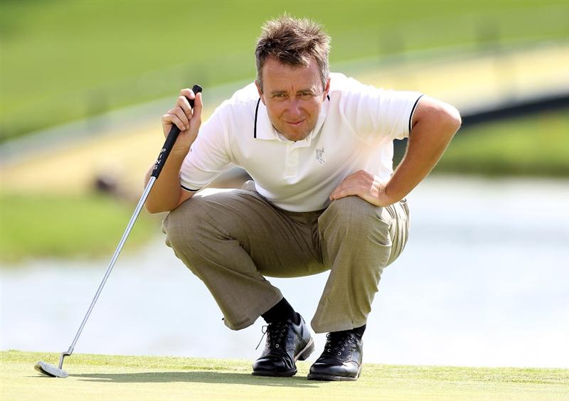 SEVILLE, SPAIN - MAY 02:  Mark Foster of England during the final round of the Open de Espana at the Real Club de Golf de Seville on May 2, 2010 in Seville, Spain.  (Photo by Ross Kinnaird/Getty Images)