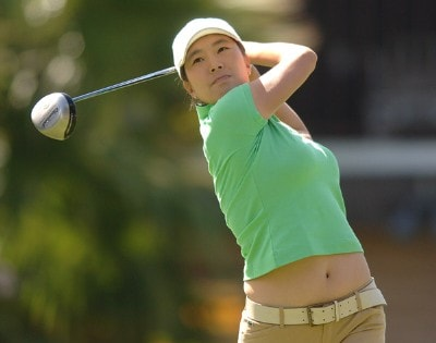 Shi Hyun Ahn in action during the final round of the LPGA's 2006 Takefuji Classic at the Las Vegas Country Club in Las Vegas, Nevada April 15, 2006Photo by Steve Grayson/WireImage.com