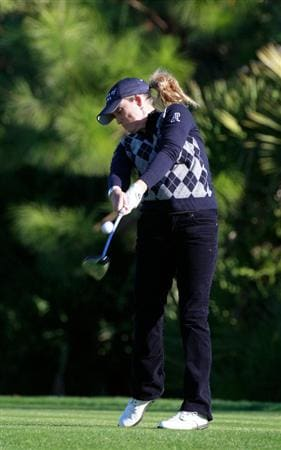 ORLANDO, FL - DECEMBER 03:  Cristie Kerr hits a shot on the 13th hole during the second round of the LPGA Tour Championship at the Grand Cypress Resort on December 3, 2010 in Orlando, Florida.  (Photo by Sam Greenwood/Getty Images)