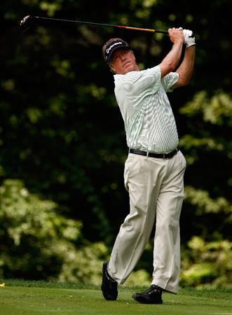 BETHESDA, MD - JULY 04:  Michael Allen hits his tee shot on the 14th hole during the third round of the AT&T National at the Congressional Country Club on July 4, 2009 in Bethesda, Maryland.  (Photo by Scott Halleran/Getty Images)