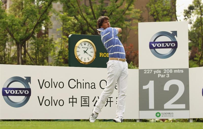 CHENGDU, CHINA - APRIL 21:  Robert Jan Derksen of The Netherlands  in action during first round of the Volvo China Open at Luxehills Country Club on April 21, 2011 in Chengdu, China.  (Photo by Ian Walton/Getty Images)