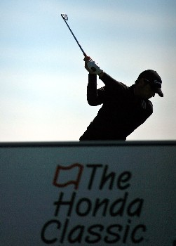 PALM BEACH GARDENS, FL - FEBRUARY 28:  Sergio Garcia of Spain tees off on the 17th hole during the first round at the Honda Classic at PGA National Resort and Spa February 28, 2008 in Palm Beach Gardens, Florida.  (Photo by Marc Serota/Getty Images)