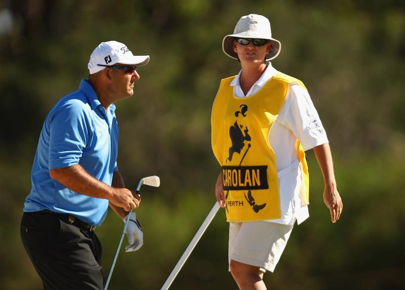 PERTH, AUSTRALIA - FEBRUARY 20:  Tony Carolan of Australia in action during round two of the 2009 Johnnie Walker Classic at The Vines Resort and Country Club on February 20, 2009 in Perth, Australia.  (Photo by Ian Walton/Getty Images)