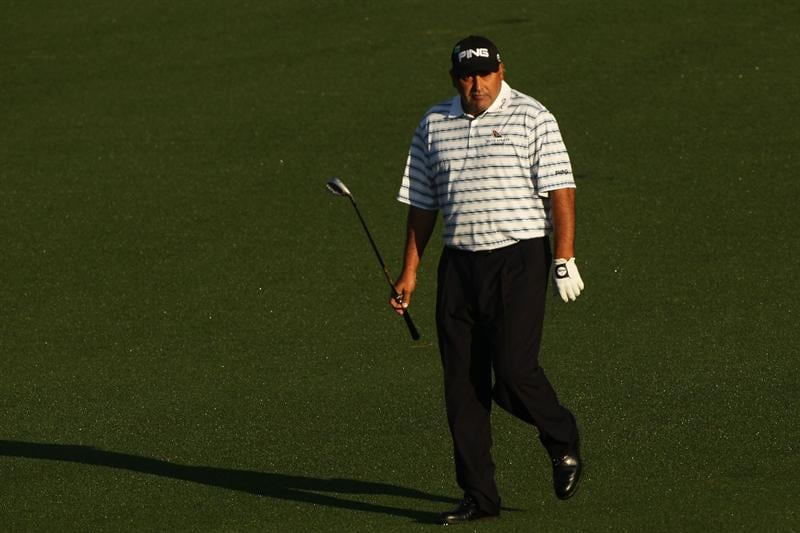 AUGUSTA, GA - APRIL 06:  Angel Cabrera of Argentina walks down a fairway during a practice round prior to the 2010 Masters Tournament at Augusta National Golf Club on April 6, 2010 in Augusta, Georgia.  (Photo by David Cannon/Getty Images)