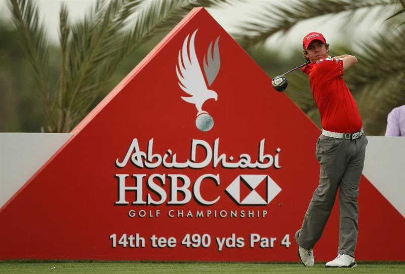 ABU DHABI, UNITED ARAB EMIRATES - JANUARY 19:  Rory McIlroy of Northern Ireland during the pro-am event prior to the Abu Dhabi HSBC Golf Championship at the Abu Dhabi Golf Club on January 19, 2011 in Abu Dhabi, United Arab Emirates.  (Photo by Ross Kinnaird/Getty Images)