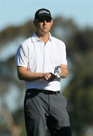 LA JOLLA, CA - JANUARY 28:  Matt McQuillan of Canada waits to hit his tee shot on the second hole during round two of the Farmers Insurance Open at Torrey Pines South Course on January 28, 2011 in La Jolla, California.  (Photo by Stephen Dunn/Getty Images)