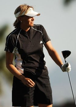 Liselotte Neumann in action during the second round of the LPGA's 2005 Kraft Nabisco Championship, at Mission Hills Country Club in Rancho Mirage, California March 25, 2005.