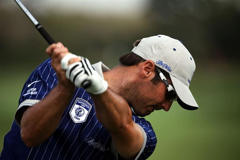 ORLANDO, FL - MARCH 16:  Trevor Immelman of South Africa practices for the Tavistock Cup on March 16, 2009 at Lake Nona Country Club in Orlando, Florida.  (Photo by Marc Serota/Getty Images)