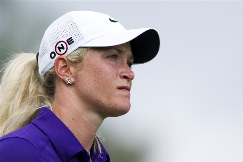 CHON BURI, THAILAND - FEBRUARY 21:  Suzann Pettersen of Norway looks on the 12th tee during the final round of the Honda PTT LPGA Thailand at Siam Country Club on February 21, 2010 in Chon Buri, Thailand.  (Photo by Victor Fraile/Getty Images)