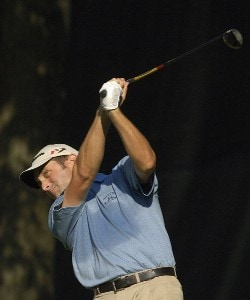 Jeff Gove during the continuation of the first round of the U.S. Bank Championship in Milwaukee at Brown Deer Park Golf Course in Milwaukee, Wisconsin, on July 28, 2006.Photo by Steve Levin/WireImage.com
