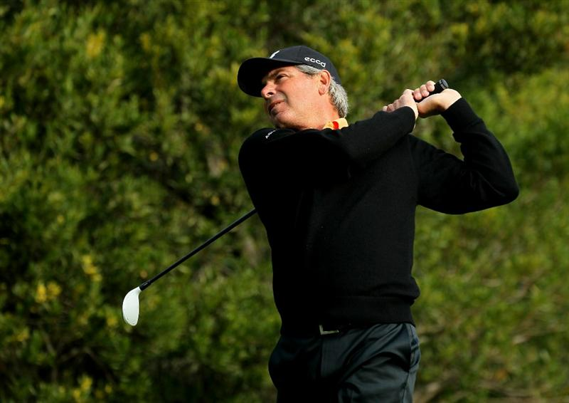 PACIFIC PALISADES, CA - FEBRUARY 18:  Fred Couples hits his tee shot on the fourth hole during round two of the Northern Trust Open at Riviera Country Club on February 18, 2011 in Pacific Palisades, California.  (Photo by Stephen Dunn/Getty Images)