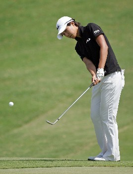 KAPOLEI, HI - FEBRUARY 22:  Song-Hee Kim of South Korea hits her third shot on the 18th hole during the second round of  the Fields Open on February 22, 2008  at the Ko Olina Golf Club in Kapolei, Hawaii.  (Photo by Andy Lyons/Getty Images)