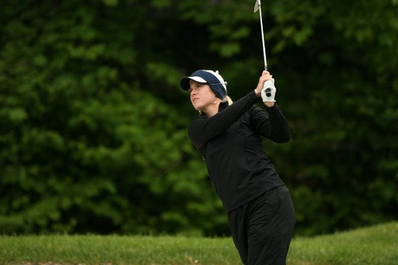 CLIFTON, NJ - MAY 17: Brittany Lincicome hits her second shot on the 4th hole during the final round of the Sybase Classic presented by ShopRite at Upper Montclair Country Club on May 17, 2009 in Clifton, New Jersey. (Photo by Hunter Martin/Getty Images)